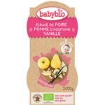Bio p'tits fruits poire pomme vanille 120 g dès 12 mois pas cher