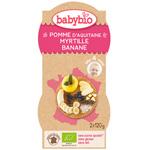 Bio mes fruits pomme myrtille banane 120 g dès 4 mois pas cher