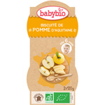 Bio mes biscuitées pomme 120 g dès 6 mois pas cher