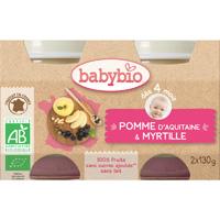 Bio pommes myrtilles dès 4 mois