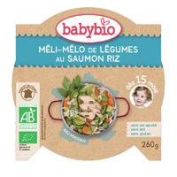 Mon p'tit plat méli mélo de légumes au saumon riz