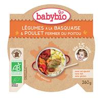 Mon p'tit plat légumes du soleil poulet basquaise riz 260 g dès 15 mois