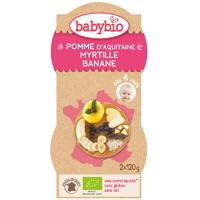Bio mes fruits pomme myrtille banane 120 g dès 4 mois