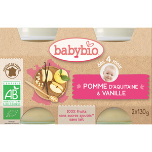 Bio pommes vanille