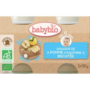 Bio crème aux fruits pomme - biscuit