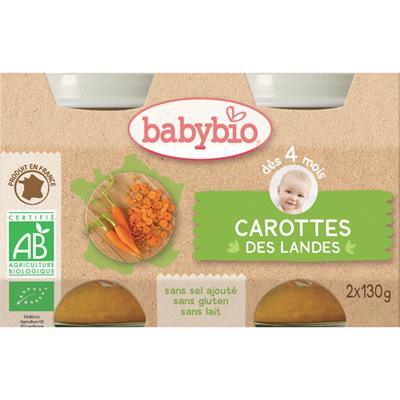 Bio carottes des landes Babybio