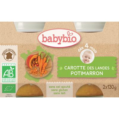 Bio carottes-potimarron Babybio