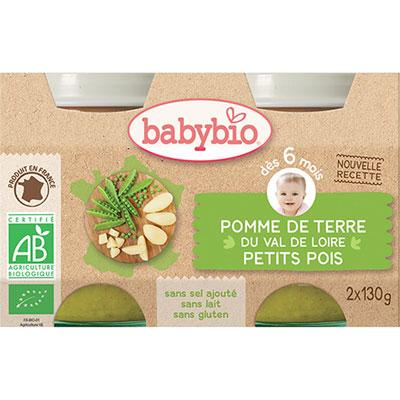 Bio pomme de terre petits pois Babybio