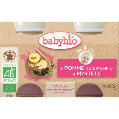 Bio pommes myrtilles Babybio