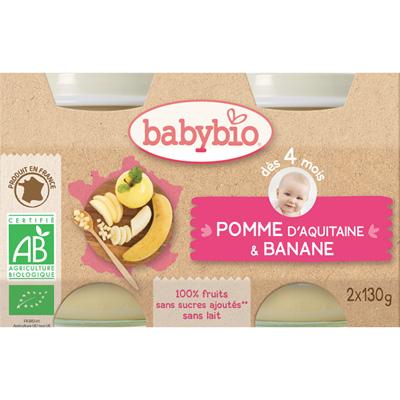 Bio pommes bananes Babybio