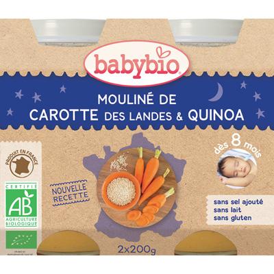 Menu du jour légumes et quinoa 200 g dès 8 mois Babybio