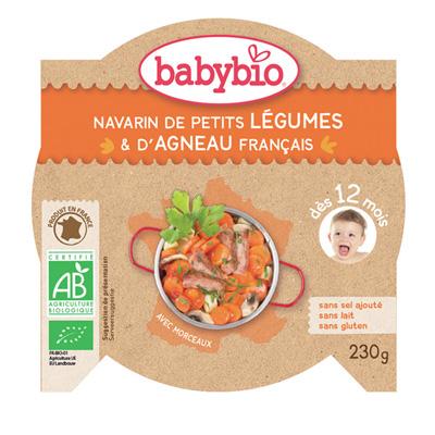 Menu du jour mijoté de petits légumes et d'agneau Babybio