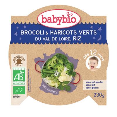 Bonne nuit farandole de légumes verts riz Babybio