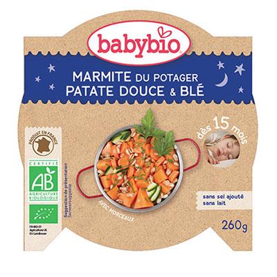 Bonne nuit marmite du potager patates douce blé Babybio