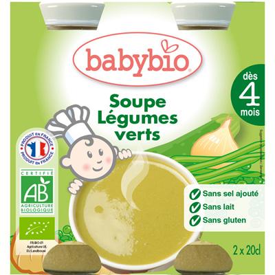 Bio baby soup légumes verts 20 cl dès 4 mois Babybio