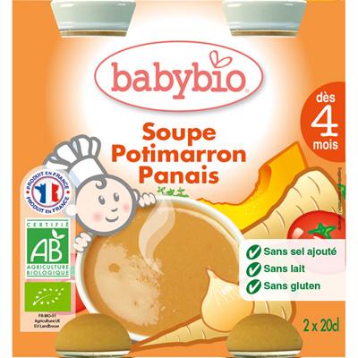 Bio bay soup potimarron-panais 20 cl dès 4 mois Babybio