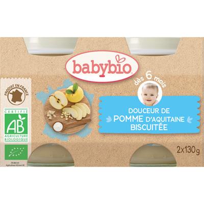 Bio crème aux fruits pomme - biscuit Babybio