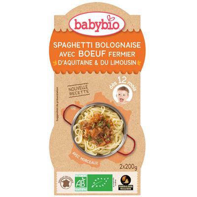 Spaghetti bolognaise au parmesan Babybio
