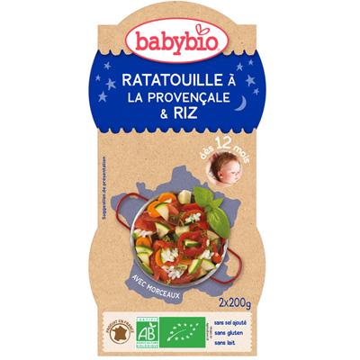 Bonne nuit ratatouille riz 200 g dès 12 mois Babybio