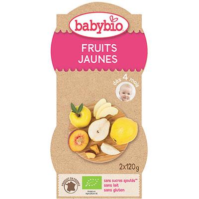 Bio mes fruits fruits jaunes 120 g dès 4 mois Babybio