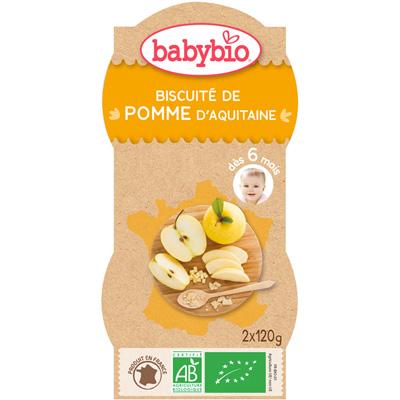 Bio mes biscuitées pomme 120 g dès 6 mois Babybio