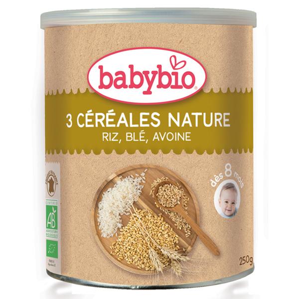 Trois céréales nature Babybio