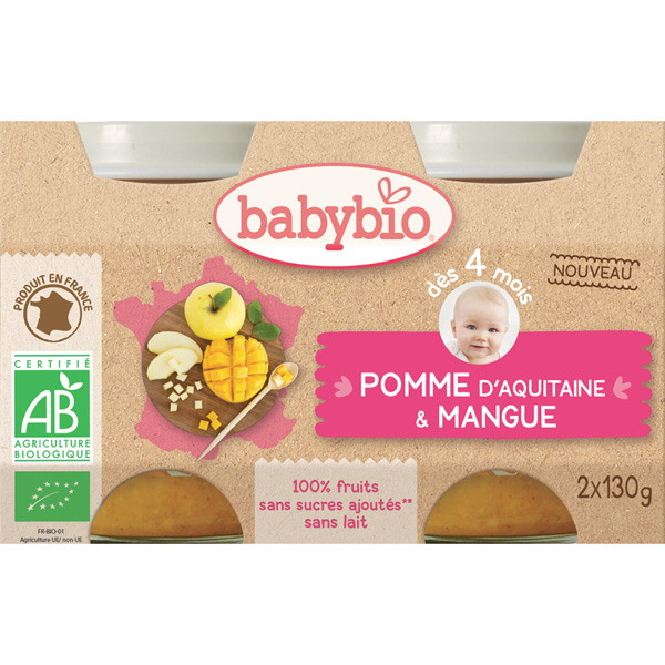 Bio pomme & mangue Babybio