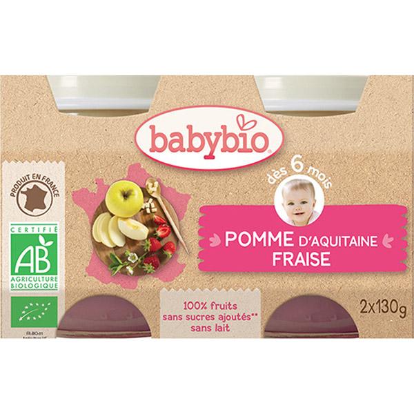 Bio pomme & fraise Babybio