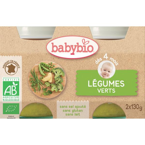 Bio légumes verts Babybio