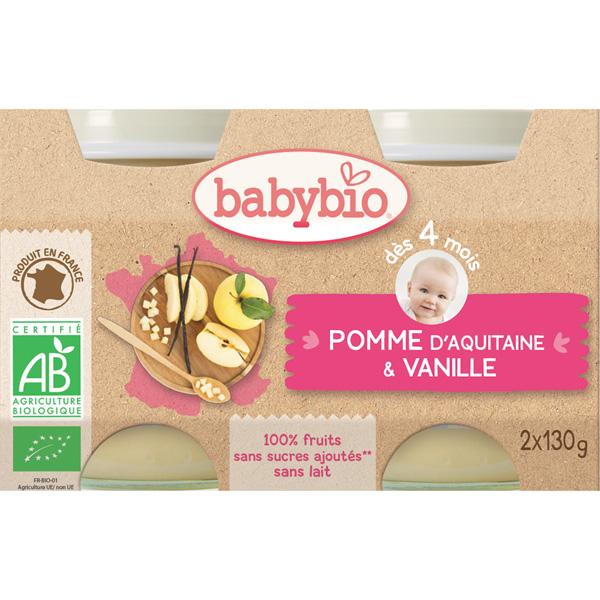 Bio pommes vanille Babybio
