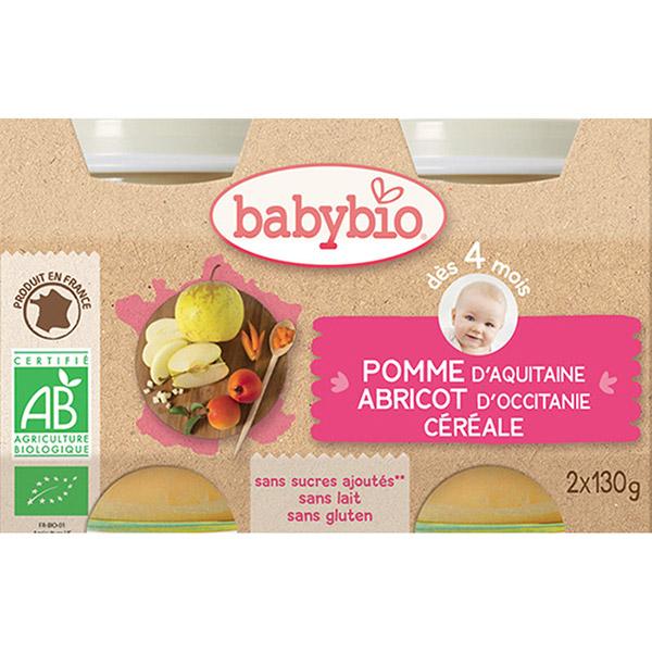 Bio pommes abricots céréale Babybio