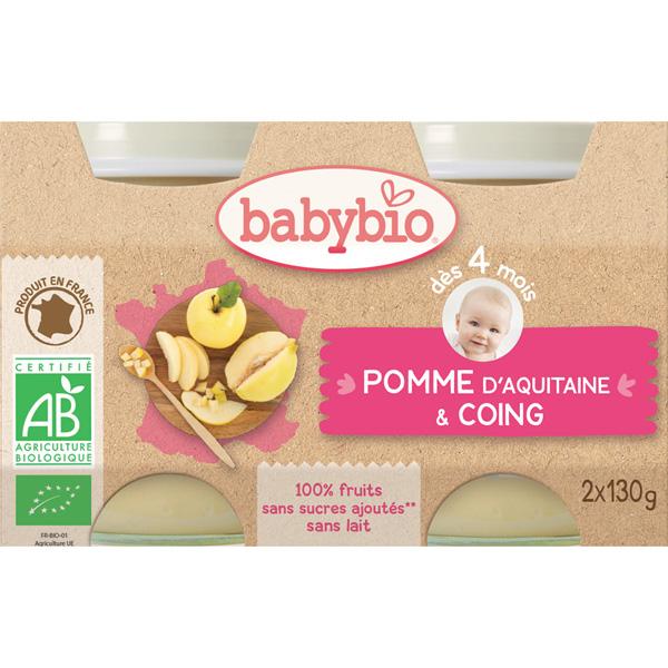 Bio pommes coings Babybio
