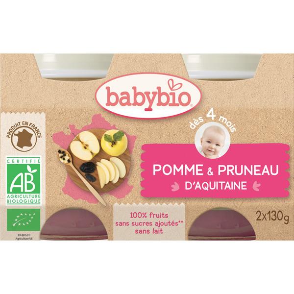 Bio pommes pruneaux Babybio