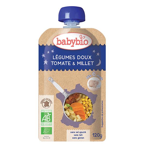 Menu bonne nuit légumes doux tomate millet Babybio