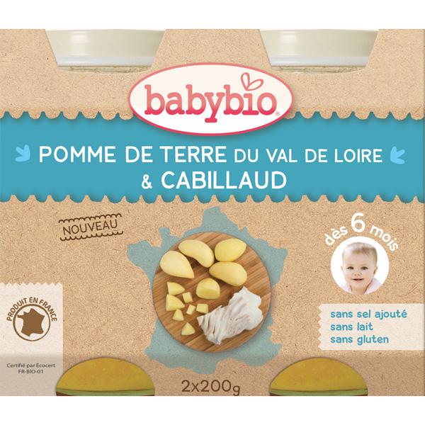 Menu du jour pomme de terre & cabillaud Babybio