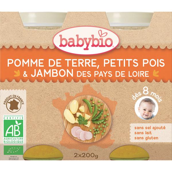 Menu du jour légumes et jambon 200 g dès 8 mois Babybio