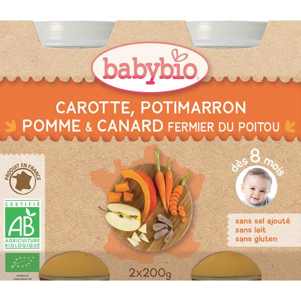 Menu du jour légumes et canard fermier 200 g dès 8 mois Babybio