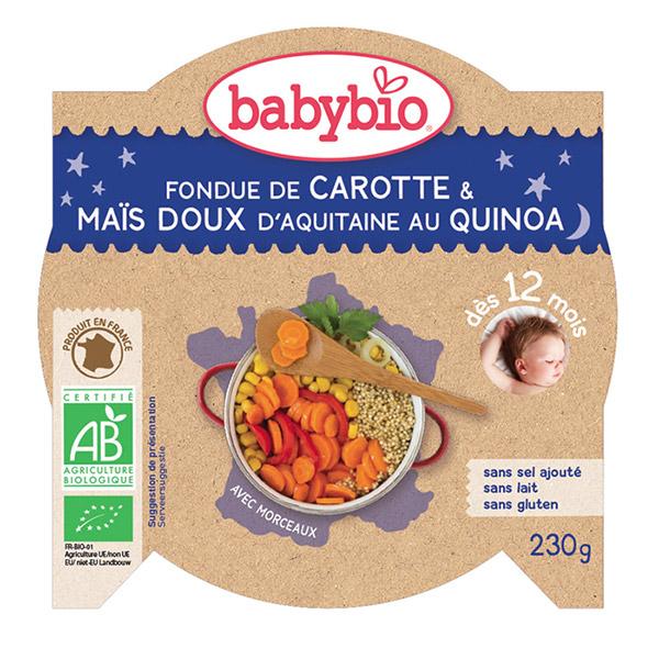Mon p'tit plat fondue de petits légumes au quinoa Babybio
