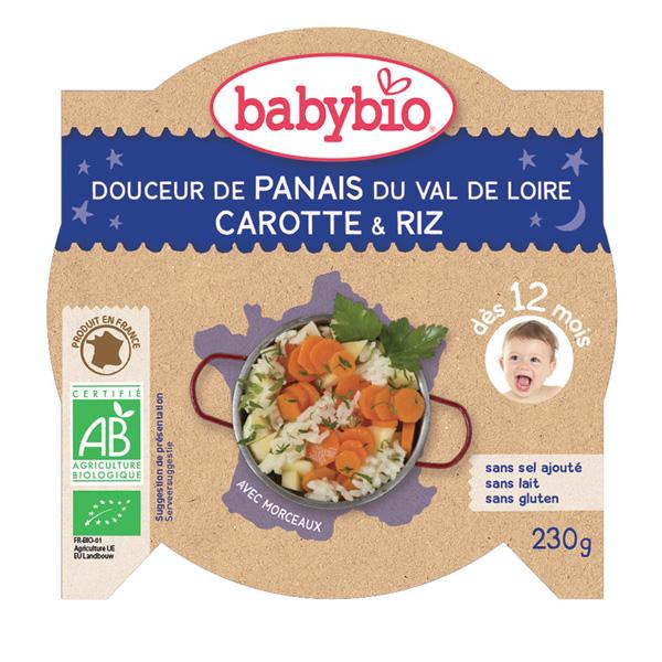 Bonne nuit douceur de panais et carotte-riz Babybio