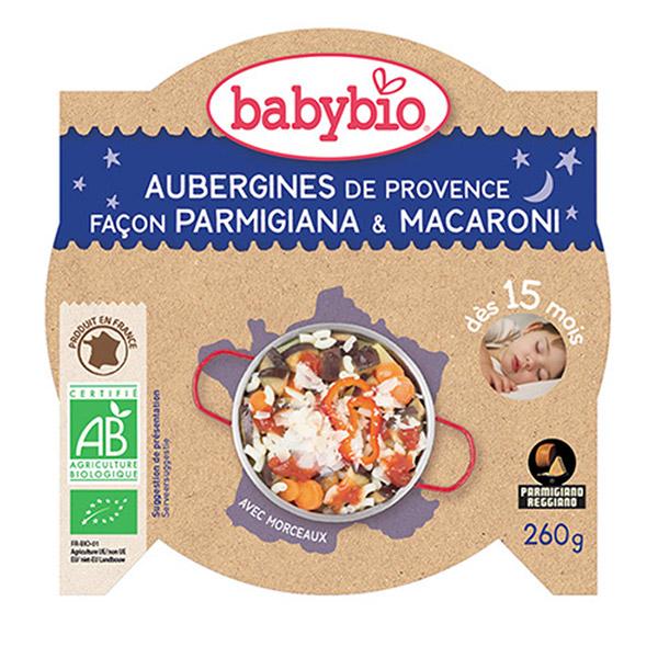 Bonne nuit légumes pâtes à l'italienne au parmesan Babybio