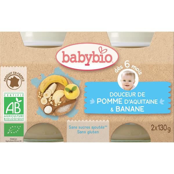 Bio crème aux fruits pomme - banane Babybio