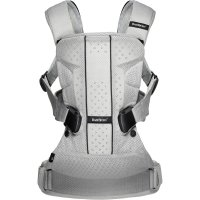 Porte bébé ventral multiposition one air maille filet 3d argent
