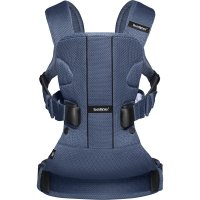 Porte bébé ventral multiposition one air maille filet 3d bleu foncé