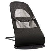 Transat bébé balance soft maille filet 3d noir gris