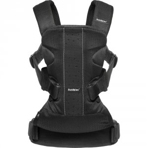 Porte bébé ventral multipositionone air maille filet 3d noir
