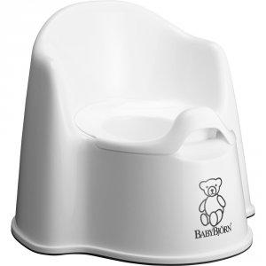 Pot bébé fauteuil blanc neige