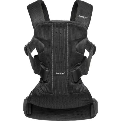 Porte bébé ventral multiposition one air maille filet 3d noir Babybjorn