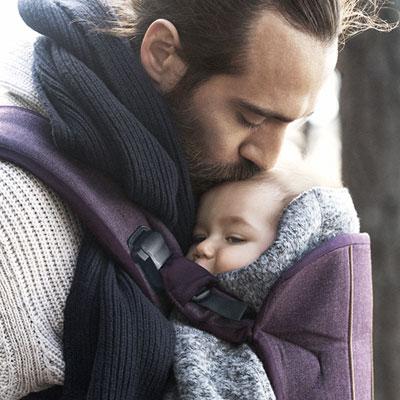 Porte bébé one cotton mix rouge mûre Babybjorn