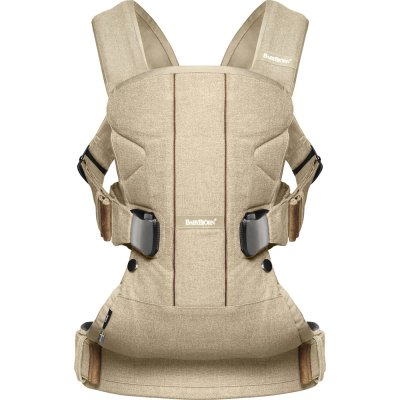 Porte bébé one cotton mix beige bouleau Babybjorn