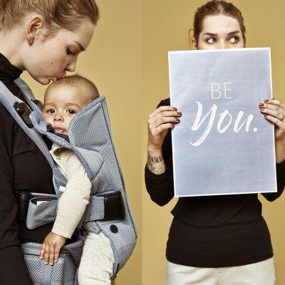 Porte bébé one air maille filet 3d bleu crépuscule Babybjorn